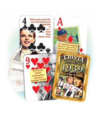 Flickback Media, Inc. 1939 Trivia Playing Cards: 80th Birthday or 80th