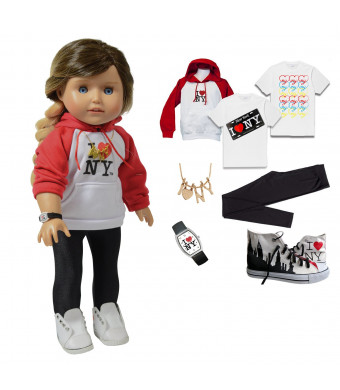 Kay - 18 Inch Tourist Doll Clothing Accessory Set - Hip