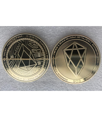 Cryptocurrency Gold Plated EOS Coin Collectible Art Collection Gift Physical (gold)