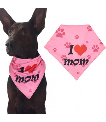 Ggkidsfunpet Mother's Day Dog Bandanas Triangle Bibs Scarf Accessories