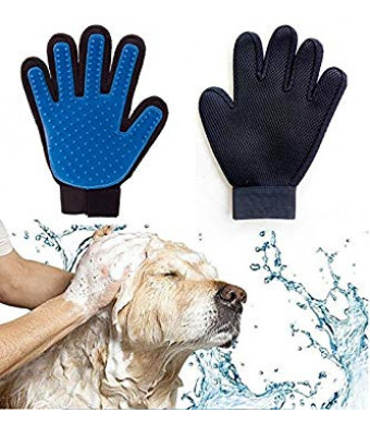 Winnii Pet Bath Gloves Cats and Dogs Universal Massage Brushes Light Removal Cleaning Tools