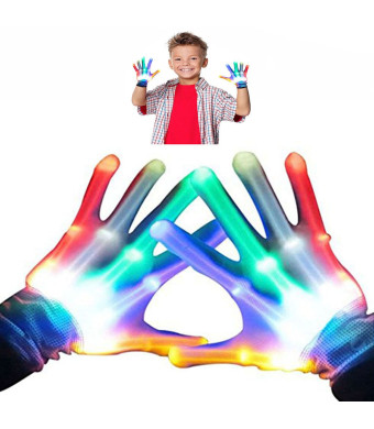 WIKI LED Colorful Flashing Finger Lighting Gloves ST01 - Best Gifts
