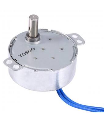 Turntable Synchronous Synchron Motor 50/60Hz AC 100~127V 4W 5-6RPM/MIN CCW/CW For Hand-Made, School Project, Model (2.5-3RPM)
