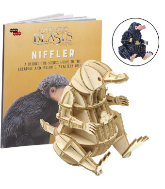 """IncrediBuilds Fantastic Beasts and Where to Find Them Niffler Book and 3D Wood Model Kit - Build, Paint and Collect Your Own Wooden Model - Great for Kids and Adults, 8+ - 3"""" h"""