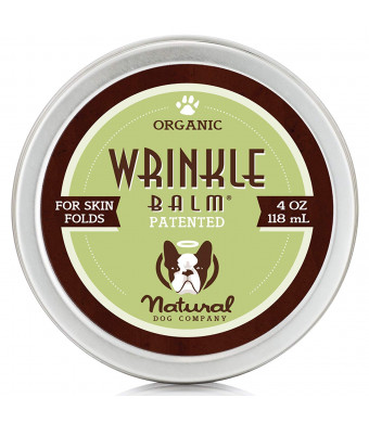 Natural Dog Company Wrinkle Balm Tin | Organic, All-Natural Ingredients Scent-Free | Dog Skin Fold Dermatitis, Redness, Chaffing, Inflammation