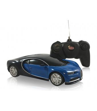 Bugatti Chiron 1:24 Scale Radio Controlled Model Car (Blue/Black)