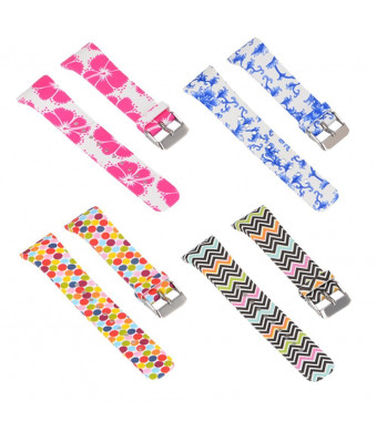 for Samsung Gear Fit2/Gear Fit2 Pro Smart Fitness Band (16-Color) Replacement Sports Wristbands Adjustable Colorful Pattern Silicone Strap/Wristband for Samsung Gear Fit2/Gear Fit2 Pro