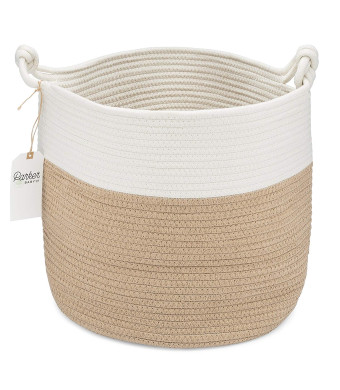 Parker Baby Nursery Storage Basket - Rope Storage Bin and Organizer for Laundry, Toys and Baby Blankets