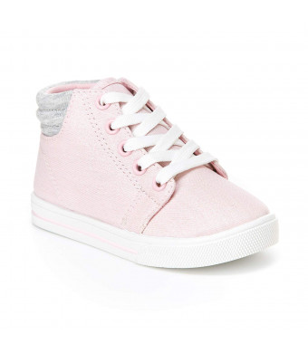 Simple Joys by Carter's Toddler and Little Girls' (1-8 yrs) Cora Gliter High-Top Sneaker