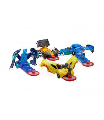 Level 1 - Jayhawk, Nightweaver, Nitebite and Sparkbug - Flipping Morphing Toy Car Vehicles (4 Pack)