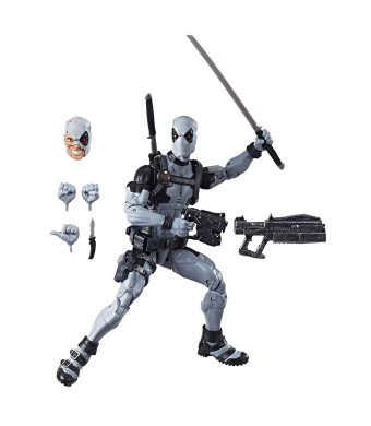 Hasbro Marvel Legends Series 12-inch Deadpool Action Figure from Uncanny X-Force Marvel Comics with Blaster/Weapon Accessories and 30 Points of Articulation (Amazon Exclusive)