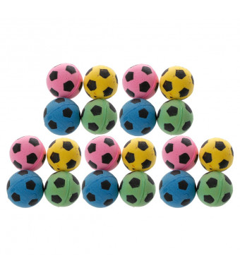 Milue 20PCS Non-Noise Cat EVA Ball Soft Foam Soccer Play Balls For Cat Scratching Toy
