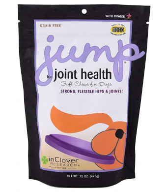 In Clover Jump Soft Chews for Daily Joint Care and Endurance Support for Dogs with Glucosamine HCl, MSM, Fish Oil, Ginger, Yucca, and Coconut Oil for All Life Stages