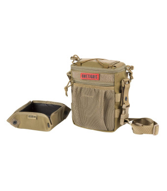 OneTigris Treat Tote Bag and Foldable Dog Bowl 2.5L MOLLE Pouch with Removable Shoulder/Waist Strap