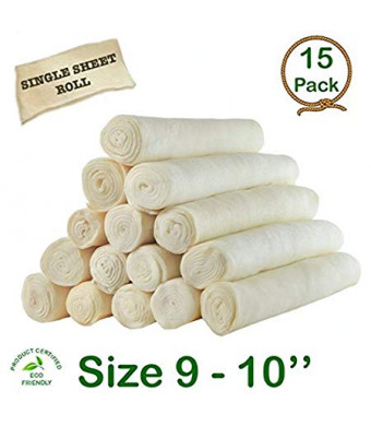 "Cowdog Chews Retriever roll 9-10"" (15 Pack) - Great Value Treat"