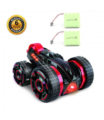 QiYu RC CarsStunt Toy Cars 4 Channel Double Sided 360 Degree Spins Stunt Toys for Kids with 2ps Batteries 27Mhzandred