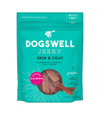 Dogswell 100% Meat Jerky Dog Treats, Made in the USA, with Biotin and Zinc for Healthy Skin and Coat