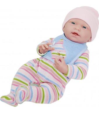 "JC Toys 18060 La Newborn Baby Play Dolls, 15"", White"