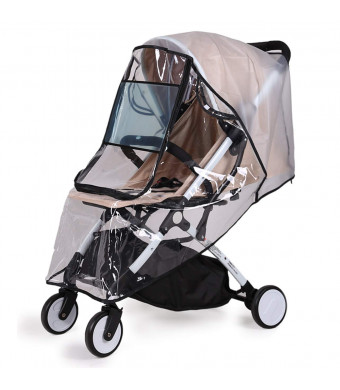 Bemece Stroller Rain Cover Universal + Mosquito Net (2-Piece Set), Baby Travel Weather Shield ...