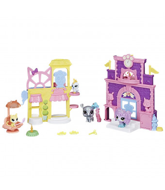 Littlest Pet Shop Prep 'n Party Double Playset Toy, Sparkle Deco, Includes Fan-Voted Pet, Ages 4 and Up, Brown