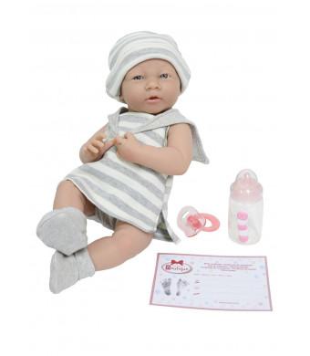 "JC Toys La Newborn Baby Play Dolls, Grey, White, 15"""