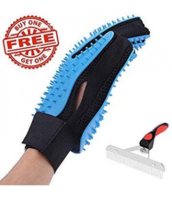 EPL Pet Grooming Glove Pet Deshedding Glove Dog Grooming Kit Cat Grooming Kit Pet Hair Remover Buy 1 Glove Get 1 Comb Free