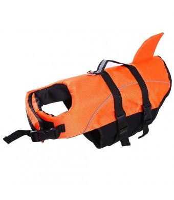 Dog Life Jacket Large,Dogs Life Vests For Swimming Extra Large,Puppy Float Coat Swimsuits Flotation Device Life Preserver Belt Lifesaver Flotation Suit For Pet Bulldog Labrador With Reflective Straps