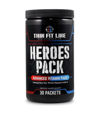 Vitamin Packs For Men and Women - 30 Servings, Individual Multivitamin Pack, Vitamin A, E, C, B Complex, Minerals, Probiotics, Bioperine. Designed For First Responders, Great For Workout and Sports