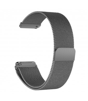 Frler Metal Watch Band Compatible Fitbit Versa, Milanese Loop Stainless Steel Metal Replacement Bracelet Strap with Magnet Lock