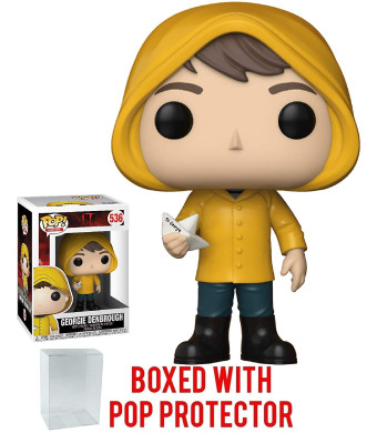 Funko Pop! Movies: Stephen King's It - Georgie Denbrough with Boat Vinyl Figure (Bundled with Pop Box Protector Case)