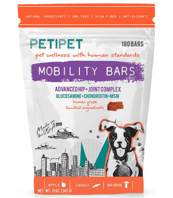 PETIPET Joint Supplement for Dogs - Glucosamine Chondroitin and MSM: Mobility for Arthritis, Hip and Inflammation for Dog Pain Relief