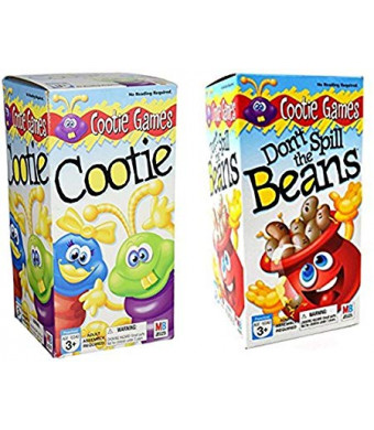 Games Kids Fun Indoor Play Playtime Family Fun Toddler Board Gift Set Gift Set Bundle - 2 Pack Cootie and Beans