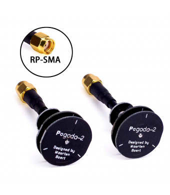 FPVKing 5.8GHz FPV Pagoda 2 Antenna RHCP RP-SMA Male Omnidirectional Transmitter Antenna for RC FPV Receiver VTX