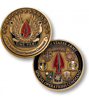 U.S. Army Special Operations Command Sine Pari Challenge Coin
