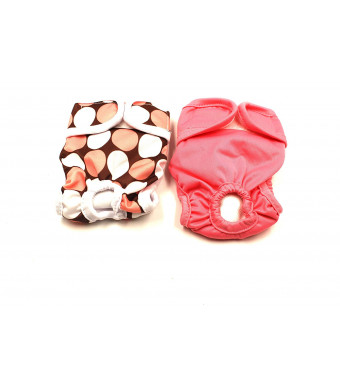 Dog Diapers Female Washable Reusable 2pcs/3pcs XS/S/M/L Yujue