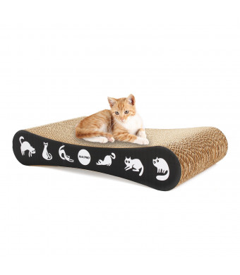 RISEPRO Cat Scratching Post, Corrugated Cardboard Double-Sided 17.5 x 9X 3.5 Cat Scratcher Cat Toys Cat Bed