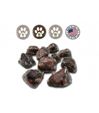 Top Dog Chews USA Dog Bone Knee Caps - 100% Natural Long Lasting Beef Chews For Dogs Perfect for Small, Medium and Large Dogs