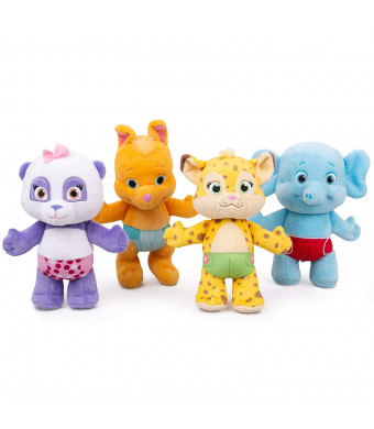 """Snap Toys Word Party 7"""" Plush Baby Animals, 4 Pack - Lulu, Bailey, Franny, Kip - from The Netflix Original Series - 18+ Months"""