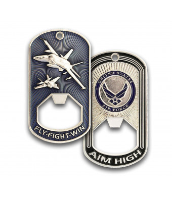 Air Force Challenge Coin - Dog Tag - Bottle Opener Coin - Designed by Military Veterans - Officially Licensed Product - Coins for Anything