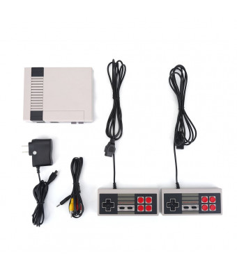 Zerone Dual Joystick Game Console Entertainment PAL/ NTSC System Built-in 500 Classic Games HD AV Output(US Plug)
