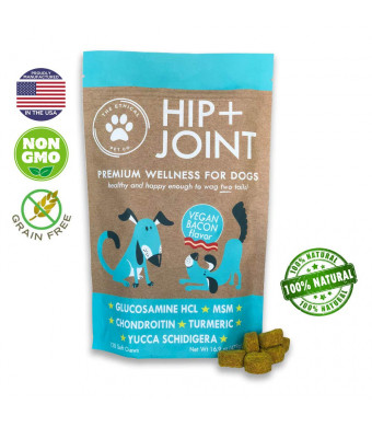The Ethical Pet Co. Dog Joint Supplement Glucosamine Chondroitin - 120ct Dog Supplements for Joints with Vitamins in Delicious Soft Chews - Natural Hip and Joint for Dogs