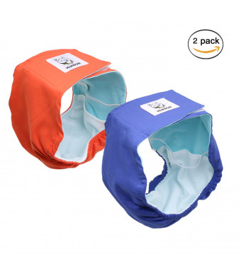 iChoue Pet Male Dog Belly Bands Reusable Comfort Diaper Doggie Belly Wrap Washable Diaper