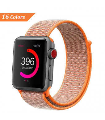 NCMASTER for Apple Watch Band 38mm 42mm Women Men iWatch band Nylon Sport Loop Band Series 1 2 3 Apple Watch Band Replacement Parts Watch Strap (1 or 6 packs)