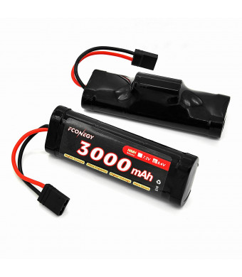 Fconegy NiMH Battery 8.4V 3000mAh 7-Cell Hump Pack with Traxxas Plug for RC Cars, RC Truck(RC Hobby)