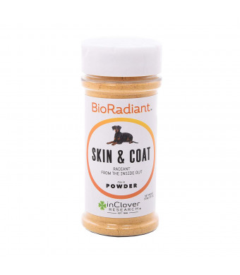 In Clover BioRadiant Skin and Coat Support for Dogs, Pure, Natural, and Clean Alternative to Fish Oil with Omega-3 Fatty Acids, Biotin and Zinc, and Curcumin to Soothe and Nourish Skin 100g (3.5 oz.)