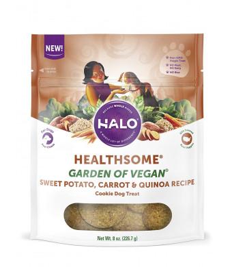 Halo Garden Vegan Holistic Grain Free Natural Crunchy Dog Treats, 8-Ounce Bag