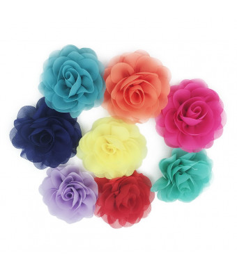HBEDU Dog Collar Flowers Pet Charms Flower Collars Accessories For Cat Puppy Bowtie Grooming Decoration Pack of 8