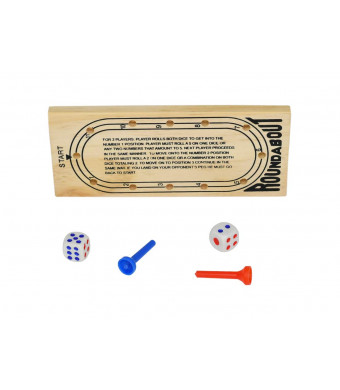 Home-X Roundabout Wooden Peg Travel Board Game