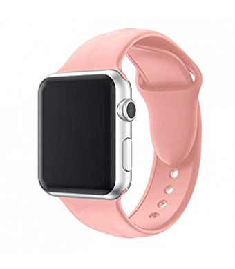 Band for Apple Watch Series 3 38mm, OS-KIM Soft Silicone Replacement Sport Band iWatch Strap for Apple Watch Series 3 Series 2, Series 1 (Size: S/M)