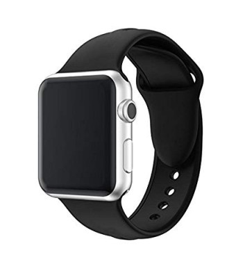 Wrist band for Apple Watch Sport Adjustable Band 42mm, Lightweight Breathable Silicone Replacement Band for Apple Watch Series 1, Series 2, Series 3, Sport, Edition